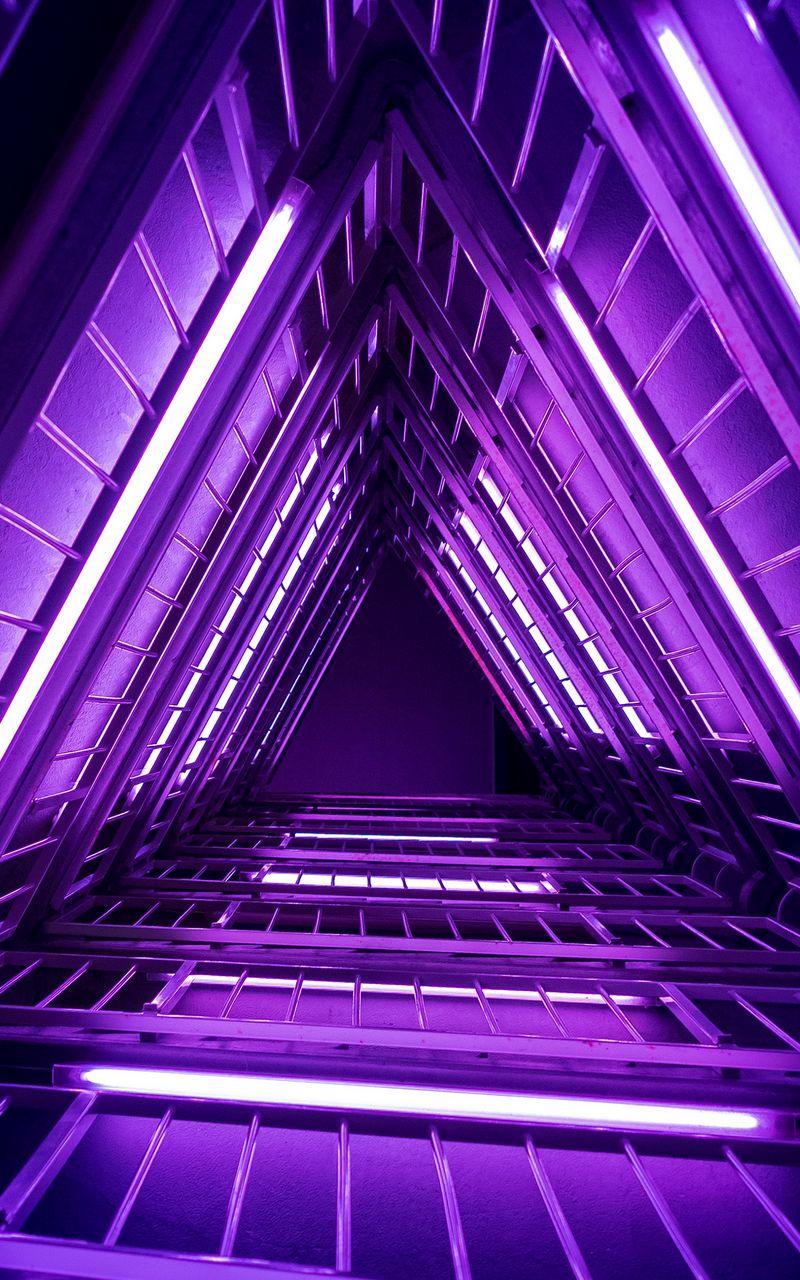800x1280 Wallpaper ladder, purple, light