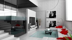 Preview wallpaper ladder, sofa, glass, interior