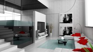 Preview wallpaper ladder, table, room, stylish, design, interior