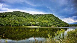 Preview wallpaper lake, hungary, landscape, dieks