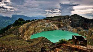 Preview wallpaper lake, mountain, sky, rocks