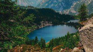 Preview wallpaper lake, mountains, valle rendena, italy