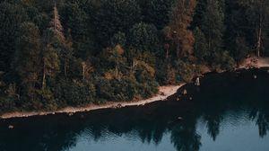 Preview wallpaper lake, water, reflection, trees, rattlesnake, usa