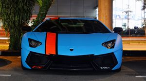 Preview wallpaper lamborghini, aventador, lp700-4, blue, supercars, exotic