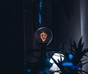 Preview wallpaper lamp, light bulb, dark, incandescent lamp, old, vintage
