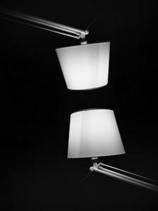 Preview wallpaper lamp, light, reflection, black and white, black