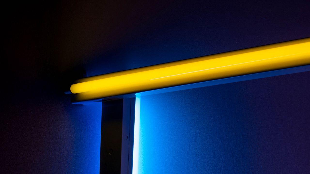 【壁纸桌面】墙纸灯、霓虹灯、辉光灯、房间、墙壁高清壁纸免费下载