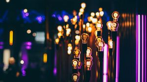 Preview wallpaper lamps, lighting, blur