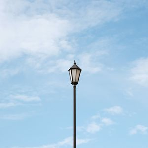 Preview wallpaper lamppost, pole, clouds, sky, minimalism