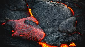Preview wallpaper lava, fiery, surface, volcano