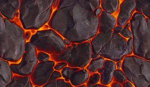 Preview wallpaper lava, texture, stones, volcanic