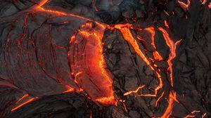 Preview wallpaper lava, volcano, eruption, hot