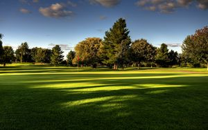 Preview wallpaper lawn, field, golf, trees