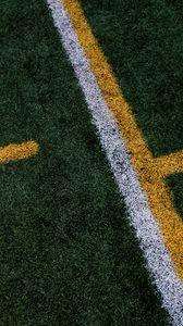 Preview wallpaper lawn, marking, line, field, grass, football, game