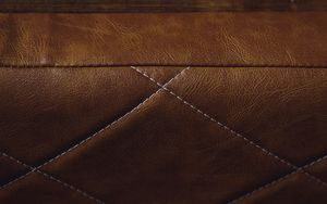 Preview wallpaper leather, brown, texture, upholstery