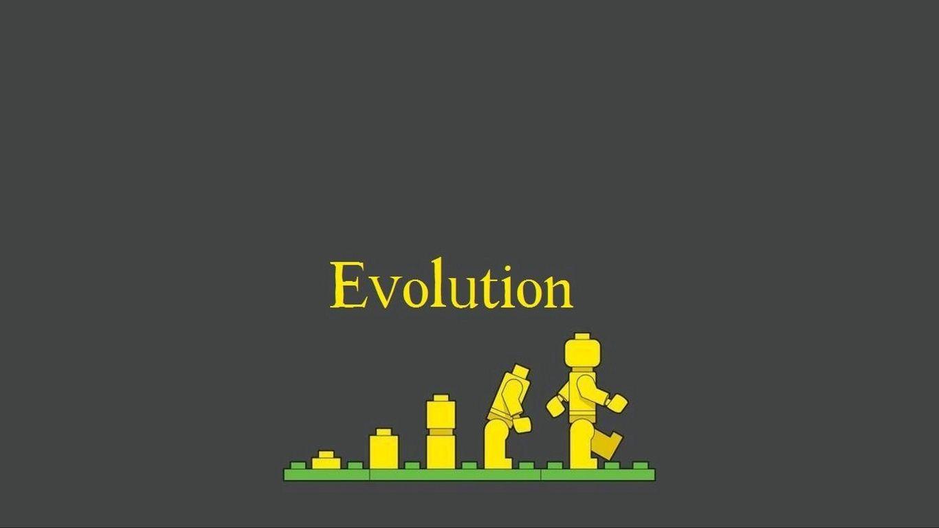 1366x768 Wallpaper lego, evolution, development