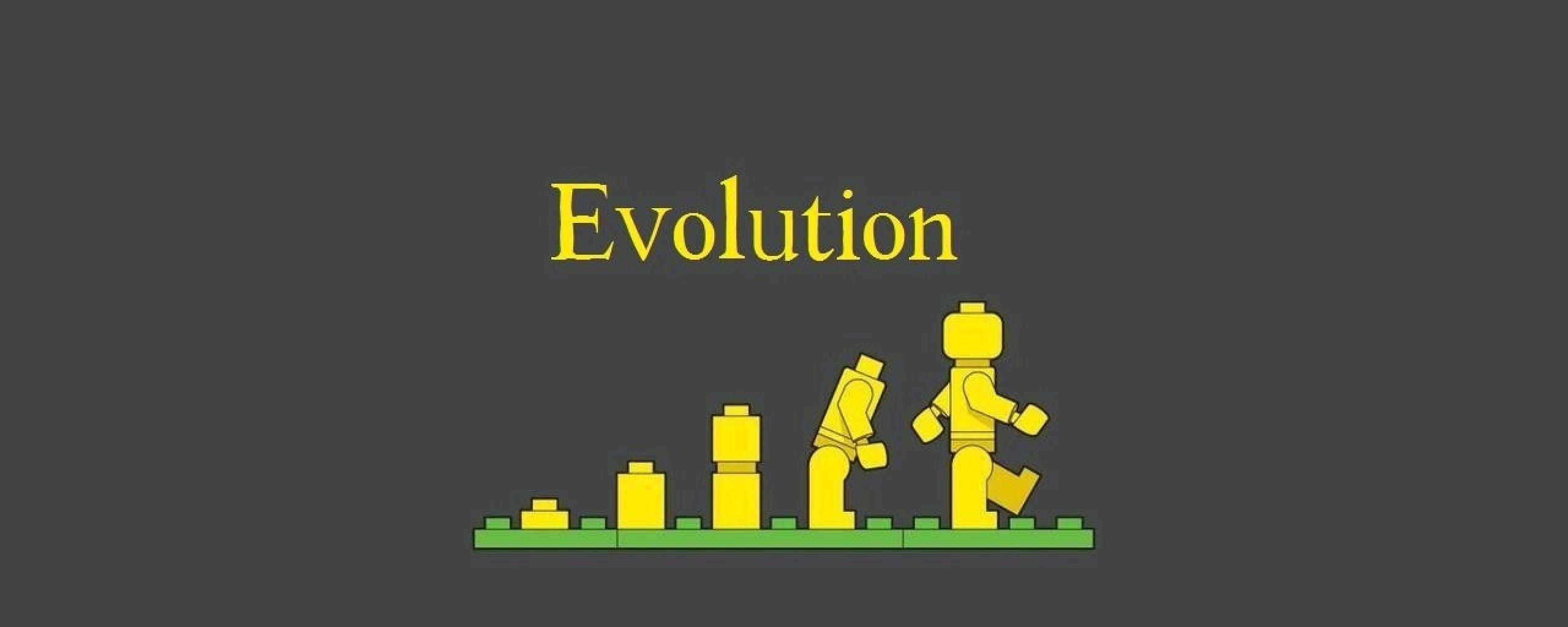 2560x1024 Wallpaper lego, evolution, development