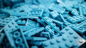 Preview wallpaper lego, puzzle, details, figures, plastic bricks