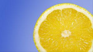 Preview wallpaper lemon, citrus, slice, ripe