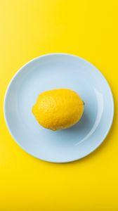Preview wallpaper lemon, fruit, citrus, yellow, minimalism