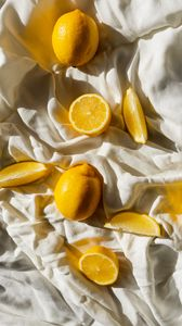 Preview wallpaper lemons, fruit, citrus, slices, yellow
