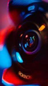 Preview wallpaper lens, camera, glare, blur, colorful