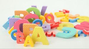 Preview wallpaper letters, many, multi-colored, development, children