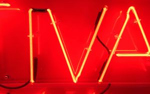 Preview wallpaper letters, neon, glow, red