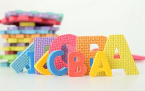 Preview wallpaper letters, toys, learning, children, colorful