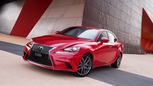 Preview wallpaper lexus, is, red, side view