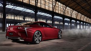 Preview wallpaper lexus, lf-lc, concept, rear view, red