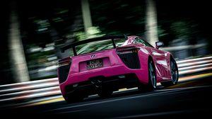 Preview wallpaper lexus, pink, blur, rear view, sport car