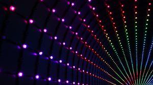 Preview wallpaper light, blur, light bulbs, lights