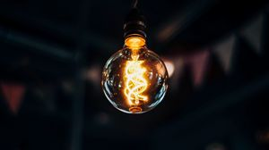 Preview wallpaper light bulb, edisons lamp, filament, light, electricity
