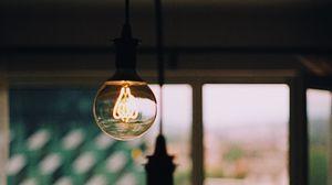 Preview wallpaper light bulbs, light, electricity, edisons lamp, filament