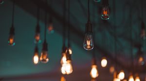 Preview wallpaper light bulbs, lighting, electricity, blur, ceiling