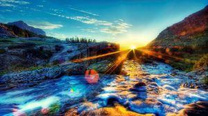 Preview wallpaper light, foam, sky, sunset, bright