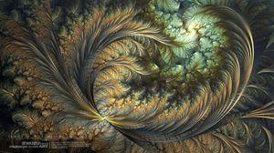 Preview wallpaper light, moon, fractals