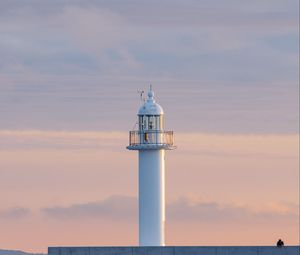 Preview wallpaper lighthouse, tower, white, minimalism