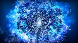 Preview wallpaper lightning, abstraction, energy, light, blue