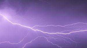Preview wallpaper lightning, storm, sky, glow