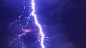 Preview wallpaper lightning, thunderstorm, sky, cloudy