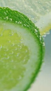 Preview wallpaper lime, citrus, lemonade, bubbles, macro