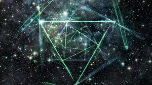 Preview wallpaper line, light, sky, stars
