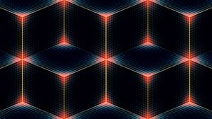 Preview wallpaper line, shade, color, square, diamond, corners, cube