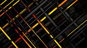 Preview wallpaper lines, intersection, oblique, multicolored, texture