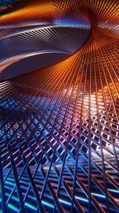Preview wallpaper lines, mesh, structure, 3d