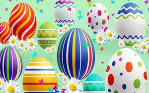 Preview wallpaper lines, patterns, colorful, holiday, easter