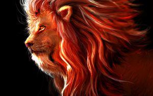 Preview wallpaper lion, big cat, art, predator, king of beasts