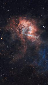 Preview wallpaper lion nebula, nebula, glow, stars, space
